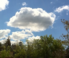 blue sky with clouds - stop negative thinking, develop mind awareness